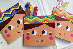 Make your own birthday cards for little kids święto dziękczynienia, rzemios Kids Crafts, Fall Crafts, Holiday Crafts, Diy And Crafts, Paper Crafts, Thanksgiving Art, Thanksgiving Preschool, Anniversaire Cow-boy, Indian Crafts