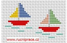 Boats, free cross stitch patterns and charts – www.free-cross-st… Boats, free cross stitch patterns and charts – www. Small Cross Stitch, Cross Stitch For Kids, Cross Stitch Borders, Cross Stitch Baby, Cross Stitch Animals, Counted Cross Stitch Patterns, Cross Stitch Designs, Cross Stitching, Cross Stitch Embroidery
