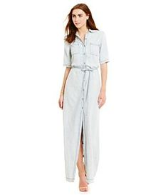Michael Stars Button-Down Maxi Dress