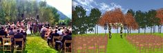 An outdoor wedding by Taylor'd Events. Come walk around in 3D! http://www.eventsclique.com/eventdesigner/Main2.html?p=269256795