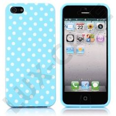 White Dots (Blå) iPhone 5 Deksel Iphone Cases, I Phone Cases