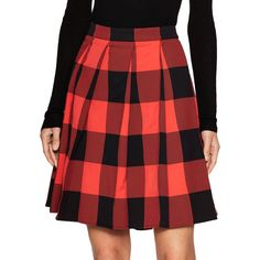 Balenciaga Women's Checkered A-Line Skirt - Size 36 (9,475 MXN) ❤ liked on Polyvore featuring skirts, multi, checkerboard skirt, balenciaga skirt, a-line skirt, inverted pleat skirts and red a line skirt