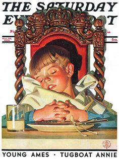 After Turkey Nap by J.C. Leyendecker From November 26, 1938