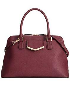 Calvin Klein On My Corner Saffiano Satchel - Calvin Klein - Handbags & Accessories - Macy's IN MERLOT $228