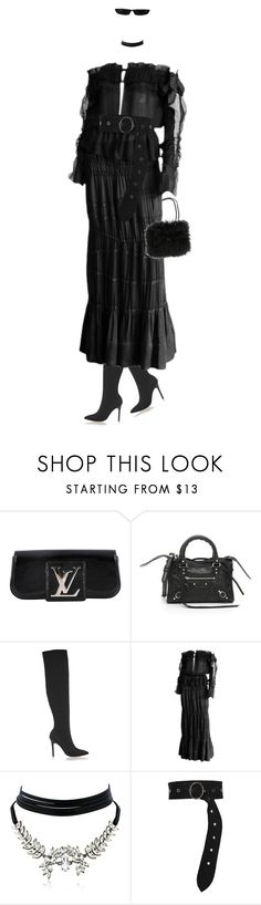 """Sans titre #320"" by divinenk ❤ liked on Polyvore featuring Louis Vuitton, Balenciaga, Halston Heritage, Tom Ford, WithChic, Dorothee Schumacher and Chanel"