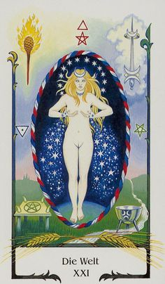 21 The World - Tarot of the Old Path