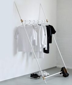Use basic plumbing parts to build your own clothing rack. Ideas For Building Your Own Modern Furniture From Scratch | Co.Design | business + design