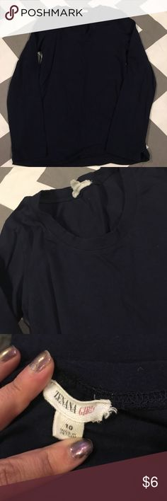 Long sleeve navy blue T-shirt Longsleeve navy blue T-shirt size 10… Good used condition… Please ask questions… Bundle and Save Shirts & Tops Tees - Long Sleeve