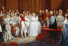 Queen Victoria Wedding - Tre anni dopo, il 10 febbraio 1840, sposò il coetaneo principe tedesco Alberto di Sassonia-Coburgo-Gotha (1819-1861)    Queen Victoria Wedding