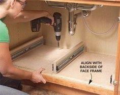 How to Build Kitchen Sink Storage Trays - Step by Step   The Family Handyman Organize