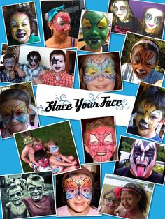 Face painting for parties and events in Southern New England.  Stace Your Face page on Facebook