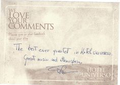 Guest Review for Hotel Universo