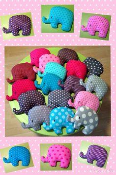 Kleine, süße Elefanten.