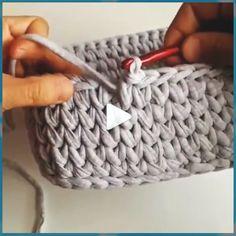 Crochet stitches makeup basket video tutorial learn to knitting tejer crochet tejeraprender crochet woven basket with molds crochet woven basket with molds diyflowerscoffeefilters diyflowerscrafts diyflowersgarden diyflowerspreschool diyflowerswall Knitted Flower Pattern, Crochet Basket Pattern, Knit Basket, Knitted Flowers, Crochet Abbreviations, Crochet Stitches, Knit Crochet, Diy Crafts Knitting, Diy Crafts Crochet