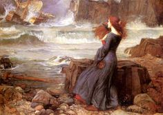 Miranda, The Tempest by John William Waterhouse