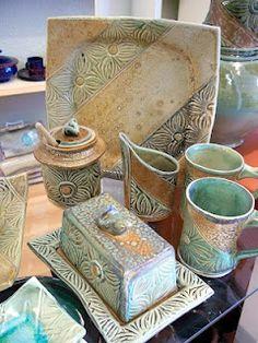 Soda fired pottery