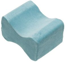 Contour Products Memory Foam Leg Pillow with Cover Blue