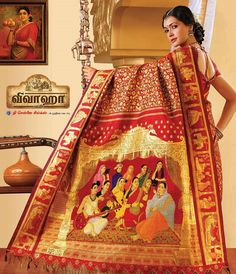 Did you know the Ravi Verma painting saree by Chennai Silk is the world's most expensive saree priced at Rs. 39,31,627?#ExpensiveSaree #RaviVerma