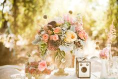vintage flower arrangement