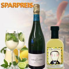 Limonsecco - ERfrischender Apero aus bestem spanischen Cava und feinem Zitronenlikör Limoncello, Wine, Drinks, Bottle, Inspiration, Food, Alcoholic Drinks, Champagne, Things To Do