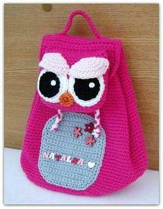 Bolsa | saco | mochila | croche | amigurumi