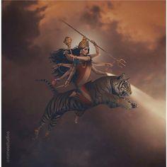 Lord Durga, Durga Maa, Shiva Shakti, Mahakal Shiva, Shiva Art, Krishna Art, Hindu Art, Durga Images, Lord Shiva Hd Images