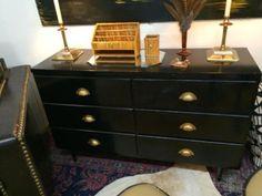 "Black Cabinet   4' Wide x 15"" Deep x 30"" High   $200  Rubbish Designer Vintage Finds Dealer #3501  Lucas Street Antique Mall 2023 Lucas Dr. Dallas, TX 75219  Like us on Facebook: https://"