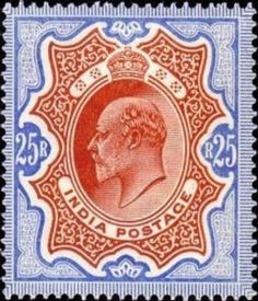 Stamp: King Edward VII (India) (King Edward VII - Definitives (1902-09)) Mi:IN 74,Sn:IN 76,Yt:IN-GB 73,Sg:IN 147 Colonial, Indie, Decorative Plates, Stamps, Tapestry, Collection, Home Decor, Seals, Hanging Tapestry