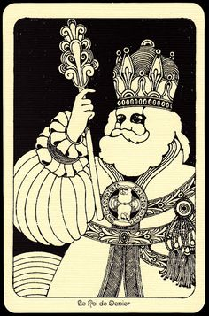 The King of Coins. Linweave Tarot 1967, The illustrations of Hy Roth, Ron Rae, David Mario Palladini and Nicolas Sidjakov (part one)