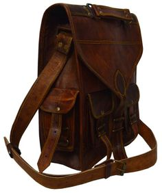 Vintage Leather Rucksack/ unisex messenger Bag, ideal for christmas gifts and personal use Mens Travel Bag, Leather Bags Handmade, Vintage Leather, My Bags, Leather Backpack, Messenger Bag, Satchel, Unisex, Purses