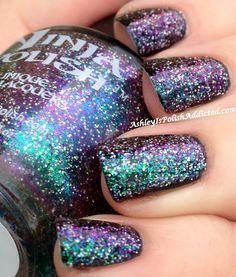 Ashley is PolishAddicted: Ninja Polish: Nebula ♥ Ninja Nail Polish Lacquer Floam Holographic metallic effect nail polish @opulentnails #ninjanails #floam
