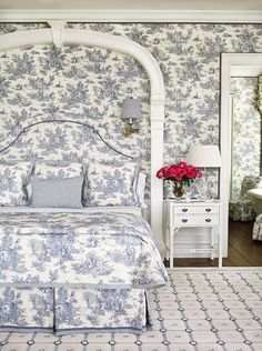 Holy toile! We love this classic pattern in soothing blue-and-white - Traditional Home®