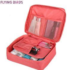 c49e52b76160 FLYING BIRDS Cosmetic case Makeup bag wash bag Women portable Bag toiletry  Storage waterproof Travel Bags LS8973 LM4092fb