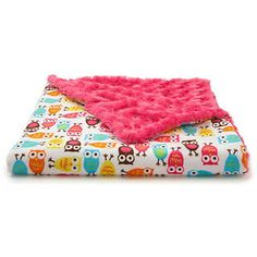 Owl Faux-Fur Toddler Blanket