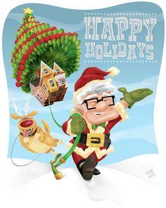 Pixar_UP_Keith_Frawley.jpg by Keith Frawley Walt Disney, Disney Up, Cute Disney, Disney Magic, Disney Pixar, Disney Stuff, Disney Cards, Christmas Post, Disney Christmas