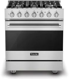 Viking RVGR33025B 30 Inch Freestanding Gas Range with 5 Sealed Burners, 18,000 BTU, 4.0 cu. ft. Convection Oven, TruGlide Full-Extension Oven Rack and Self-Clean Cycle