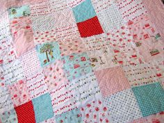 Pink Baby Girl Quilt