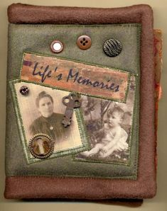 Silver Moon, Fabric photo journal, cover