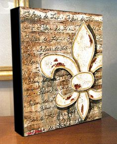 Fleur de Lis Canvas Art Print On Gallery Wrap Canvas