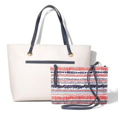 Saffiano Two-Piece Tote Shop with your Avon Representative online Avon Fashion, Image Fashion, Nautical Looks, Avon Online, Fashion Boots, Messenger Bag, Totes, Backpack, Hermes
