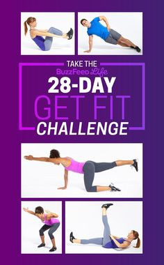 Workout Challenge This Challenge Will Get You To Actually Start Working Out. Starting this tomorrow morning! - Just four workouts a week — no gym membership or equipment needed. 28 Day Challenge, Workout Challenge, Fitness Tips, Fitness Motivation, Health Fitness, Fitness Jokes, Fitness Plan, Fitness Exercises, Easy Workouts