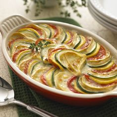 Ratatouille With Brie recipe | A ratatouille recipe perfect for all those fresh garden veggies: squash, zucchini, eggplant and tomatoes!- Foodista.com