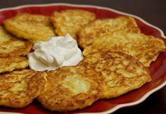 Cauliflower Pancakes Ingredients: 1 small head cauliflower, cooked, drained and mashed 1 egg, slightly beaten small onion, grated pepper to taste T