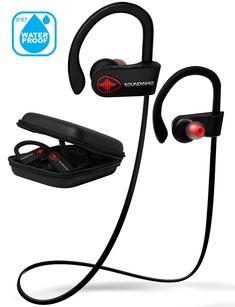 1371ae6724e Amazon.com: Bluetooth Running Headphones, Wireless Workout Earbuds w/Mic  IPX7 HD
