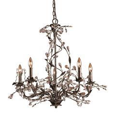 Circeo 5 Light Chandelier In Deep Rust 8054/5