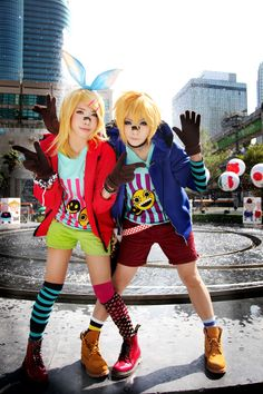 Vocaloid Cosplay - knee socks with combat boots.  Graphic tees and hoodies.  Perfect for Harajuku too!