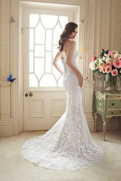 Wedding Dresses, Bridesmaid Dresses, Prom Dresses and Bridal Dresses Sophia Tolli Wedding Dresses - Style Maeve Y11652/Y11652ZB [Maeve] - Sophia Tolli Wedding Dresses, Spring 2016. Two-piece lace and misty tulle wedding dress set, strapless sweetheart lace sheath with lightly hand-beaded lace appliques placed in a shadowbox method and a court length train, detachable misty tulle full A-line overskirt with beaded belt at natural waist and chapel length train with