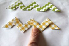 Chevrons made with a photo corner punch!  I can so do this!
