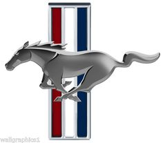Ford Mustang TRI BAR Custom Made Wall Graphic Decal Cling | eBay
