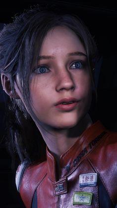 Resident Evil Video Game, Resident Evil Girl, Pathetic Women, 4k Wallpaper For Mobile, Cute Disney Wallpaper, Female Characters, Claire, Asuna, Face